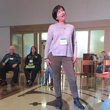 Spotlight story image pertaining to Sasha Judelson leads participants at The Circle of Music
