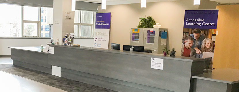 accessible learning centre front desk