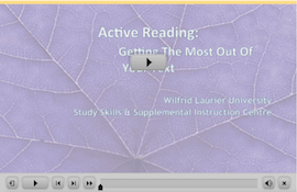 Active Reading webinar screen capture