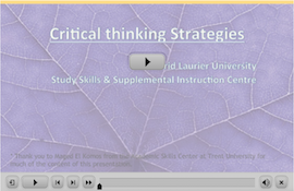 Critical Thinking webinar screen capture