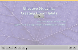 Effective Studying webinar screen capture