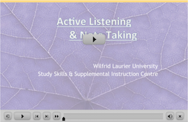 Listening and Note Taking webinar screen capture