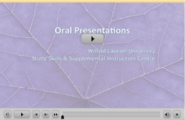 Oral Presentations webinar screen capture