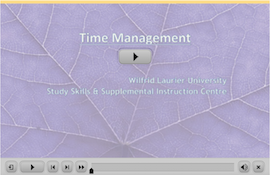 Time Management webinar screen capture