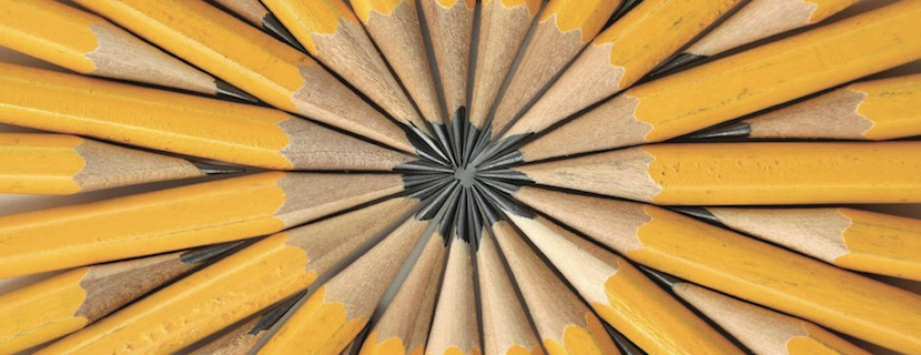 abstract group of pencils