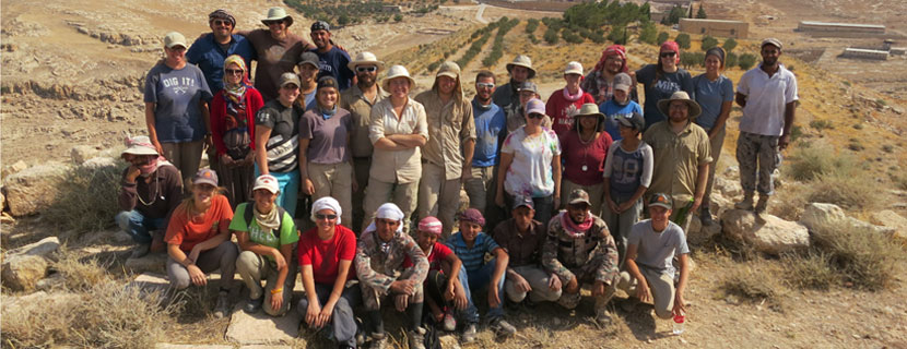 students from the Jordan field study