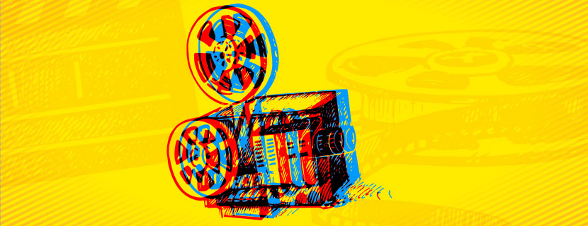 abstract film projector