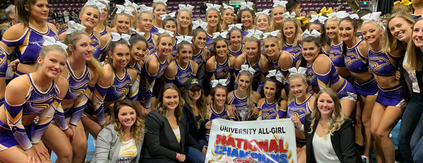 Laurier's cheerleading team