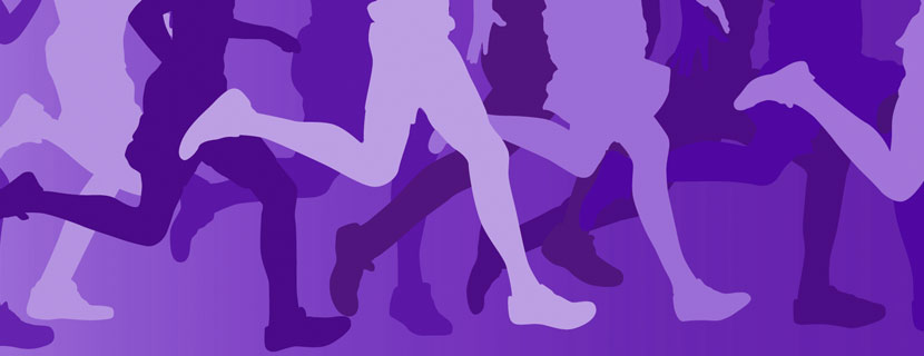 Running on Purple Background