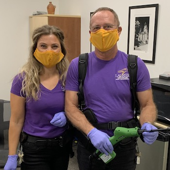 Laurier's frontline workers use new technology to keep campuses clean and safe.