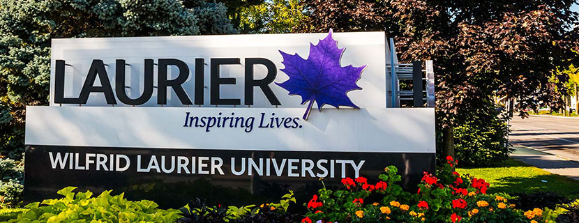 Laurier sign banner