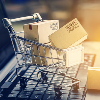 Spotlight story image pertaining to shopping cart with boxes