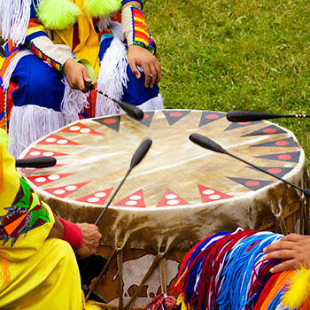 Spotlight story image pertaining to Indigenous drummers