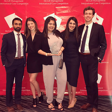 Spotlight story image pertaining to McGill Management International Case Competition Team