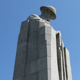Spotlight story image pertaining to The Brooding Soldier Canadian war memorial, Belgium