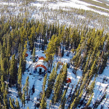 Spotlight story image pertaining to Winter aerial view of building in Northwest Territories