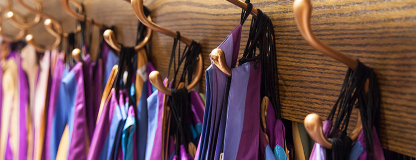 convocation robes hanging up